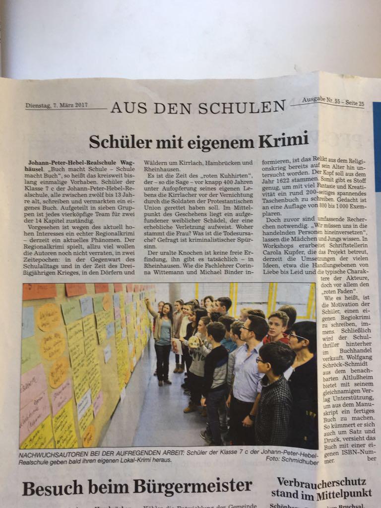 Johann-Peter-Hebel Realschule Waghäusel, Klasse 7c - Buch macht ...